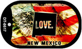 "New Mexico Love Dog Tag Kit 2"" Metal Novelty"