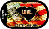 "South Carolina Love Dog Tag Kit 2"" Metal Novelty"