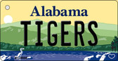 Tigers Alabama Background Key Chain Metal Novelty