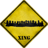 Toddler Crowd Xing Novelty Metal Crossing Sign