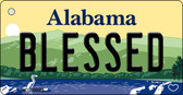 Blessed Alabama Background Key Chain Metal Novelty