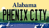 Phenix City Alabama State Background Magnet Novelty