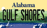Gulf Shores Alabama State Background Magnet Novelty
