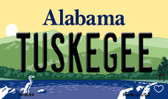 Tuskegee Alabama State Background Magnet Novelty