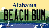 Beach Bum Alabama State Magnet Novelty M-9996