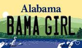 Bama Girl Alabama State Background Magnet Novelty