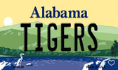 Tigers Alabama State Background Magnet Novelty
