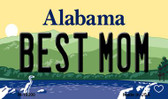 Best Mom Alabama State Background Magnet Novelty