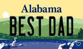 Best Dad Alabama State Background Magnet Novelty
