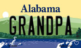 Grandpa Alabama State Background Magnet Novelty