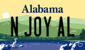 N Joy AL Alabama State Background Magnet Novelty