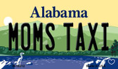 Moms Taxi Alabama State Background Magnet Novelty