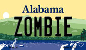 Zombie Alabama State Background Magnet Novelty
