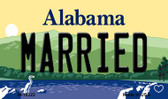 Married Alabama State Background Magnet Novelty