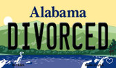 Divorced Alabama State Background Magnet Novelty