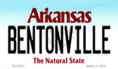 Bentonville Arkansas State Background Magnet Novelty