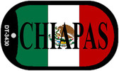 "Chiapas Mexico Flag Dog Tag Kit 2"" Metal Novelty Necklace"