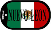 "Nuevo Leon Mexico Flag Dog Tag Kit 2"" Metal Novelty Necklace"