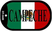 "Campeche Mexico Flag Dog Tag Kit 2"" Metal Novelty Necklace"