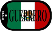 "Guerrero Mexico Flag Dog Tag Kit 2"" Metal Novelty Necklace"