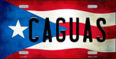 Caguas Puerto Rico Flag Background License Plate Metal Novelty LP-11327