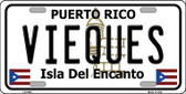 Vieques Puerto Rico Metal Novelty License Plate LP-2884