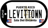 "Levittown Puerto Rico Dog Tag Kit 2"" Metal Novelty"