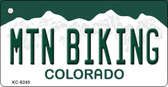 Mtn Biking Colorado Background Metal Novelty Key Chain
