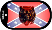 Confederate Bear Dog Tag Kit Novelty Necklace
