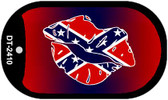 Confederate Lips Dog Tag Kit Novelty Necklace