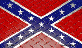 Confederate Flag Diamond Novelty Magnet