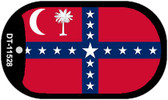 South Carolina Sovereignty Flag Dog Tag Kit Novelty Necklace