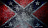 Confederate Flag Scratched Novelty Magnet