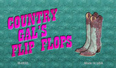 Country Gal's Flip Flops Novelty Magnet M-8820