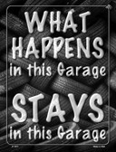 What Happens In This Garage Stays Novelty Parking Sign