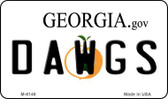 Dawgs Georgia State License Plate Novelty Magnet M-6146
