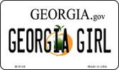 Georgia Girl State License Plate Novelty Magnet M-6148