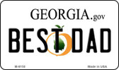 Best Dad Georgia State License Plate Novelty Magnet M-6150