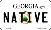 Native Georgia State License Plate Novelty Magnet M-6158