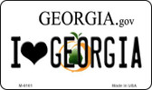 I Love Georgia State License Plate Novelty Magnet M-6161