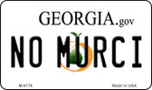 No Murci Georgia State License Plate Novelty Magnet M-6176