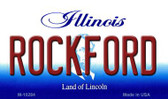 Rockford Illinois State License Plate Magnet M-10284