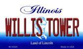 Willis Tower Illinois State License Plate Magnet M-10325