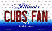Cubs Fan Illinois State License Plate Magnet M-10791