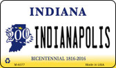 Indianapolis Indiana State License Plate Novelty Magnet M-6377