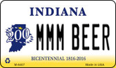MMM Beer Indiana State License Plate Novelty Magnet M-6407