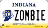 Zombie Indiana State License Plate Novelty Magnet M-6747