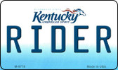 Rider Kentucky State License Plate Novelty Magnet M-6778
