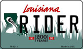 Rider Louisiana State License Plate Novelty Magnet M-6213