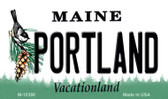 Portland Maine State License Plate Magnet M-10386